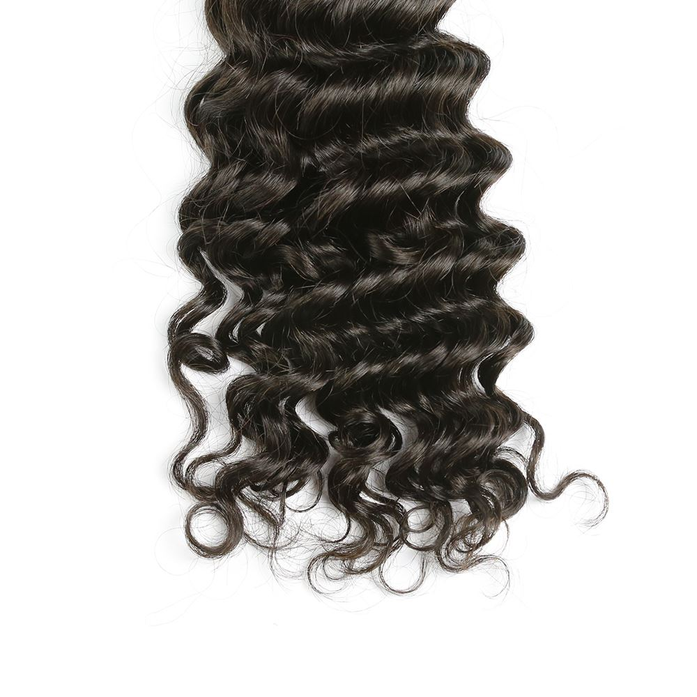 Halo Sister Virgin Malaysian Deep Wave Human Hair Weave Natural