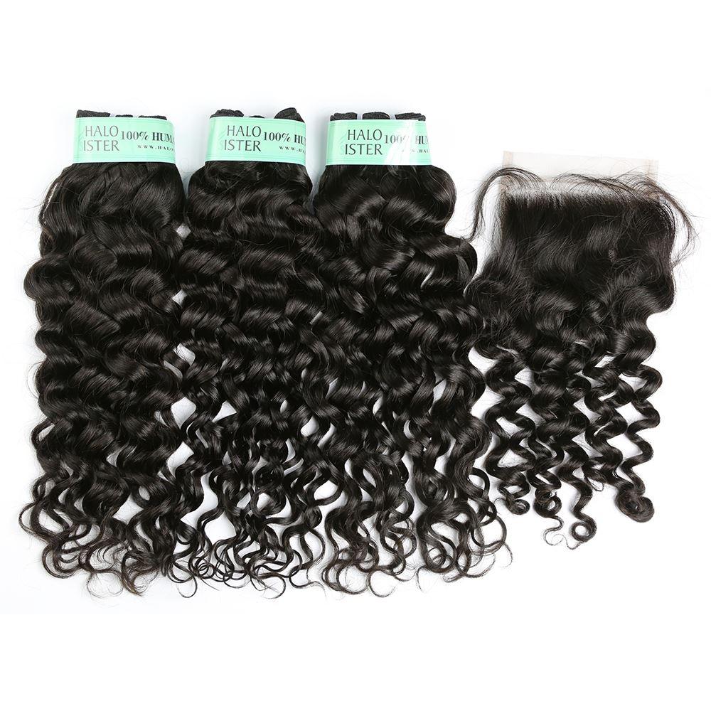 Halo Sister Brazilian Italian Curly Hair Weave Human Hair With