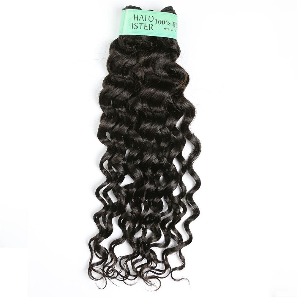 Halo Sister Virgin Brazilian Italian Curly Weave Hair Natural Black