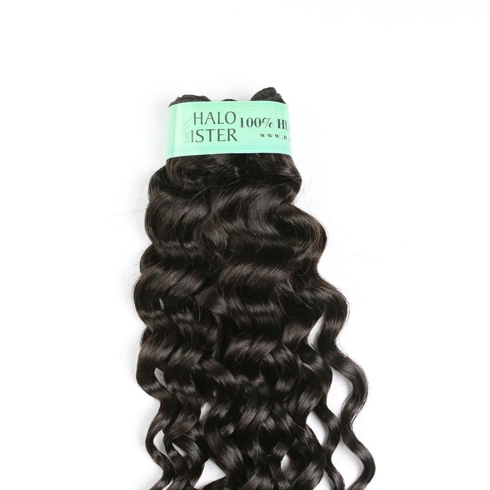 Halo Sister Peruvian Italian Curly Hair Weave Human Hair With